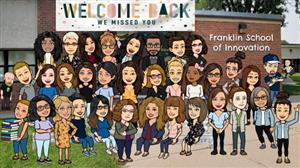 Franklin Welcome Back Bitmoji